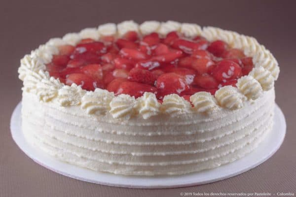 Torta fría de fresas