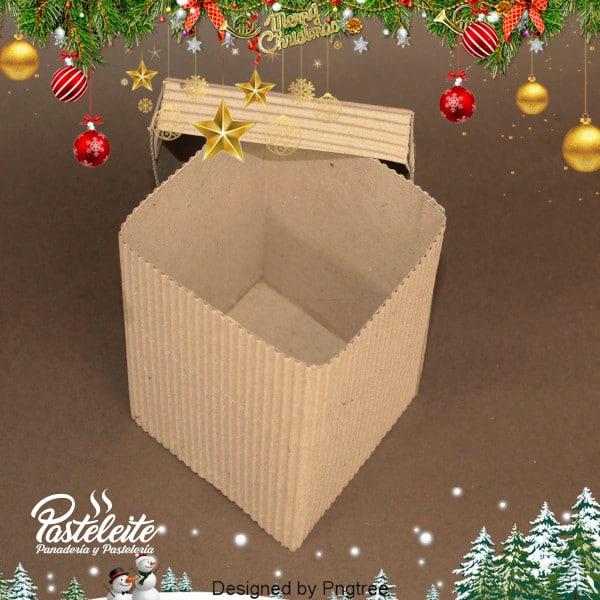 Caja 10 cm x 10 cm x 9 cm cartón corrugado