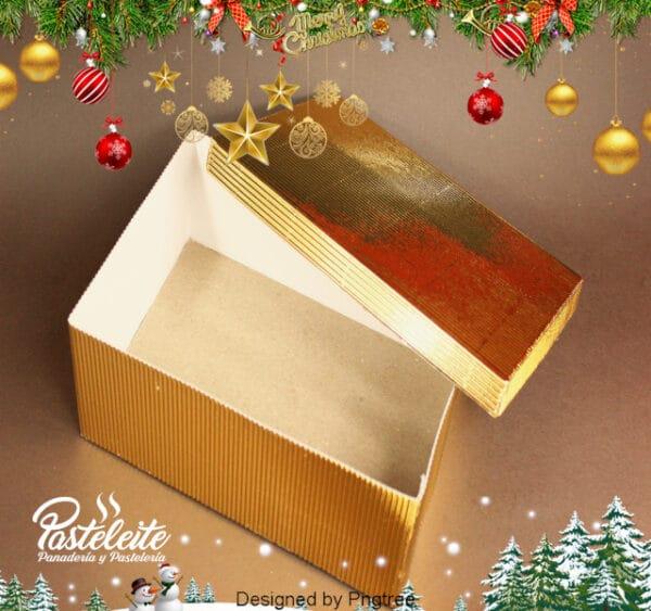 Caja 6 Cupcakes cartón corrugado dorado metalizado