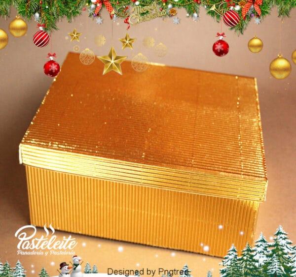 Caja 9 Cupcakes cartón corrugado dorado metalizado