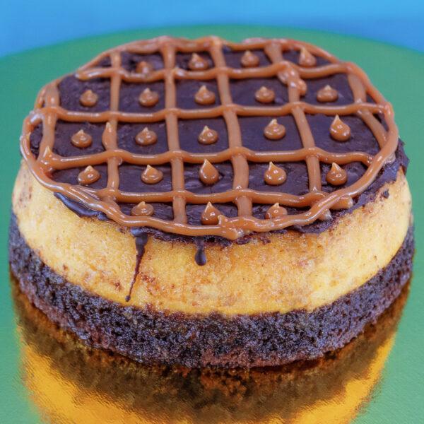 Torta flan chocoflan