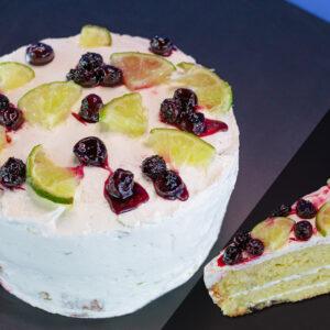 torta limón y arándanos