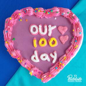 Tortas con mensaje our 100 days