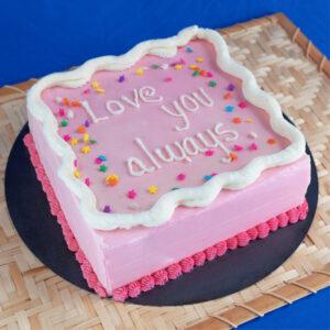Tortas con mensaje love you always
