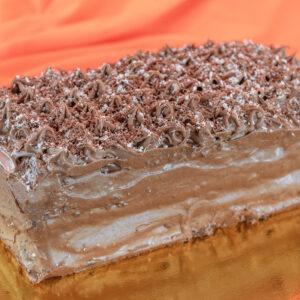 Torta de chocolate y mousse