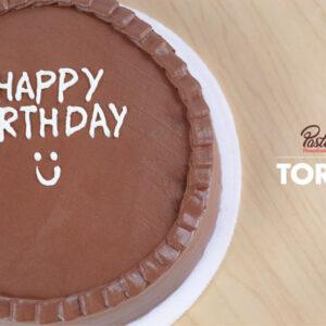 Tortas con mensaje Happy Birthday