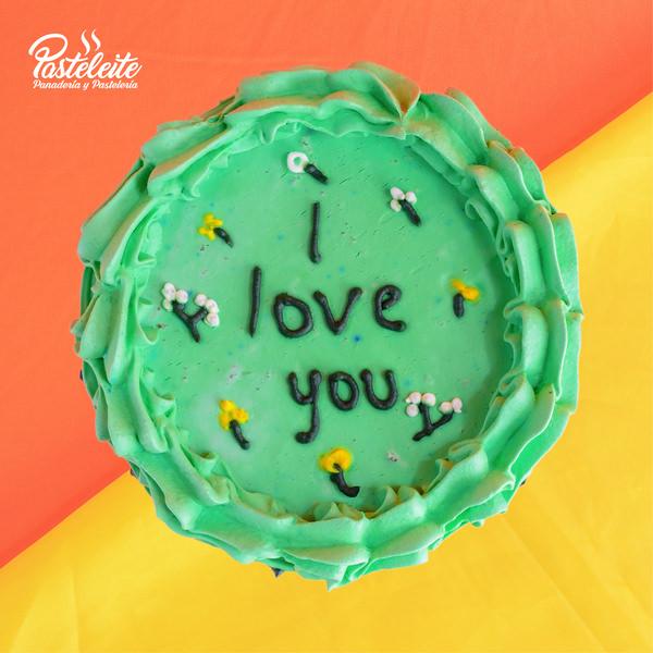 Tortas con mensaje I love you
