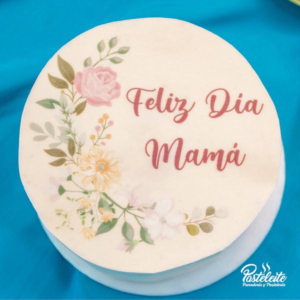 Tortas con papel comestible feliz día mama 2