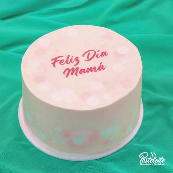 Tortas con papel comestible feliz día mama 4