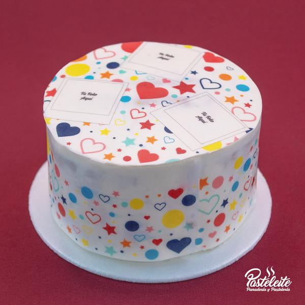 Tortas decorada con papel comestible fotos